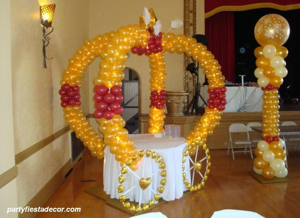 Quinceanera balloon decor san jose party decorations for Balloon decoration ideas for quinceaneras