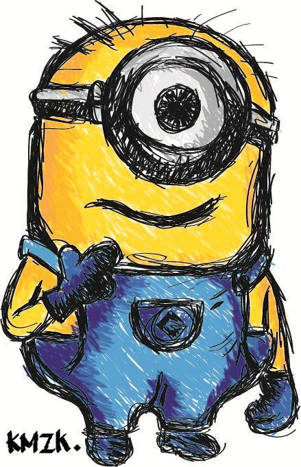 My ever first minion in Digital.