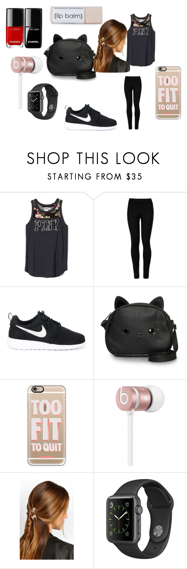 """Causal"" by explorer-14484921021 on Polyvore featuring Wolford, NIKE, Loungefly, Casetify, Beats by Dr. Dre and Rosantica"