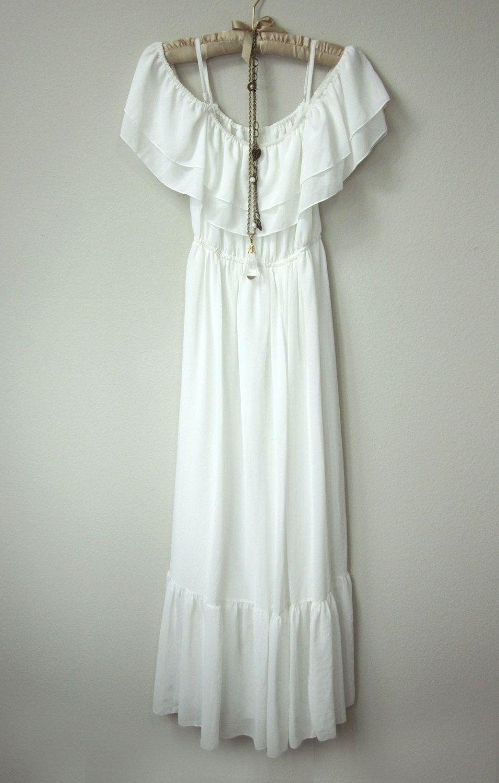 Boho ruffle maxi dress