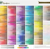 Spoonflower Color Map v2.1 - design custom fabric for photobooth