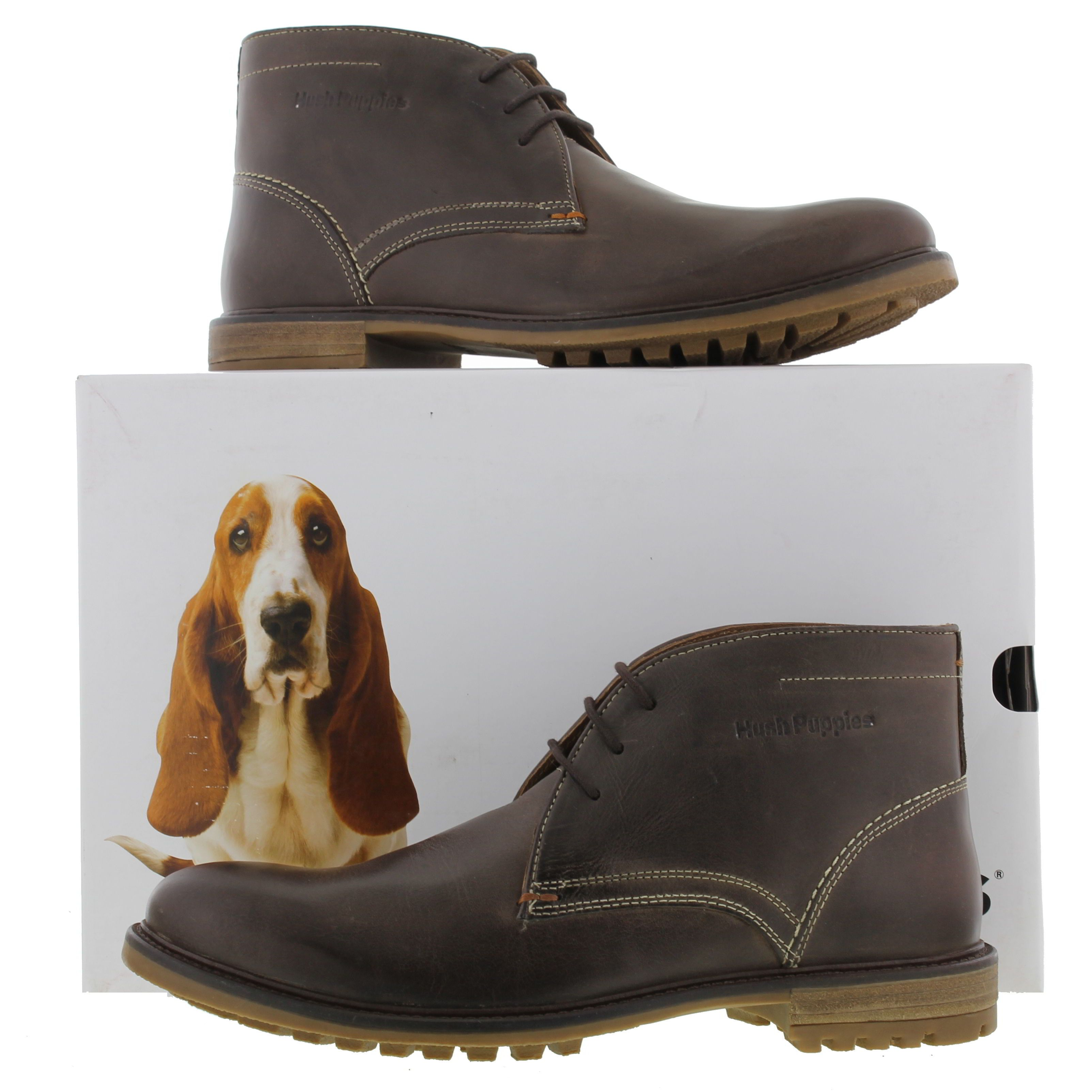 Hush Puppies Mens Benson Rigby Ankle Boots Dark Brown 84 99 Boots
