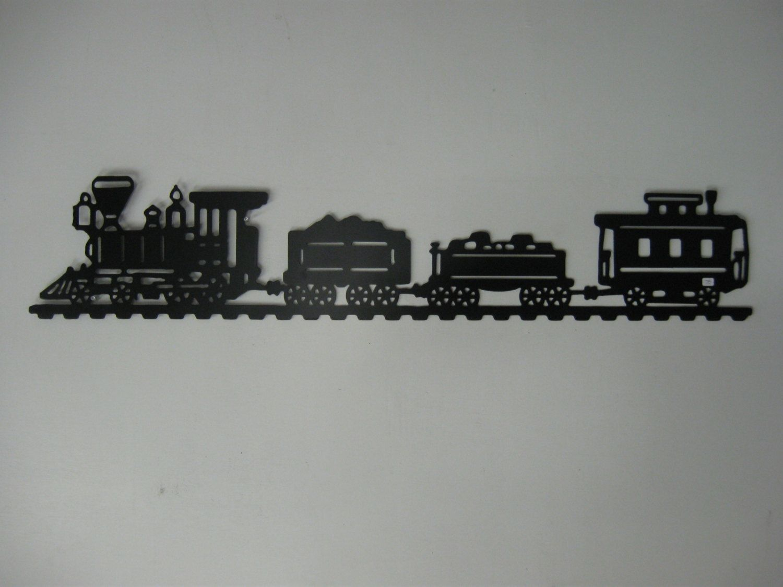 Train Metal Wall Decor By Richdalemetalart On Etsy 75 00 Wall
