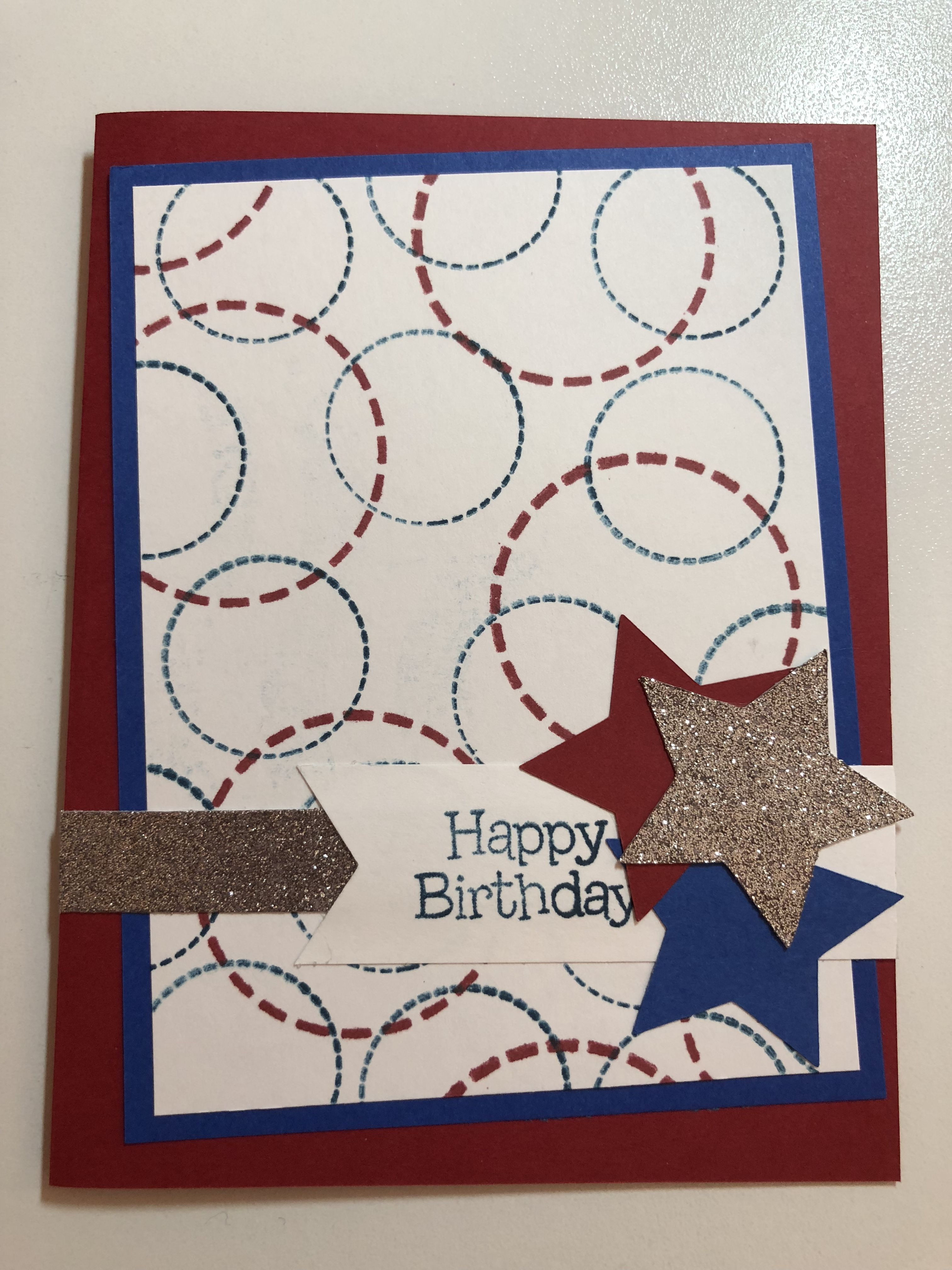 Handmade 4th Of July Birthday Card Cards Handmade Cards Birthday Cards