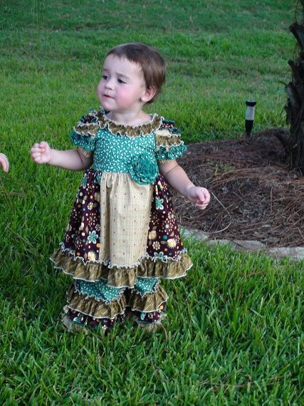 Zoey2 for fall  ruffle dress with ruffle pants by JBRCreation