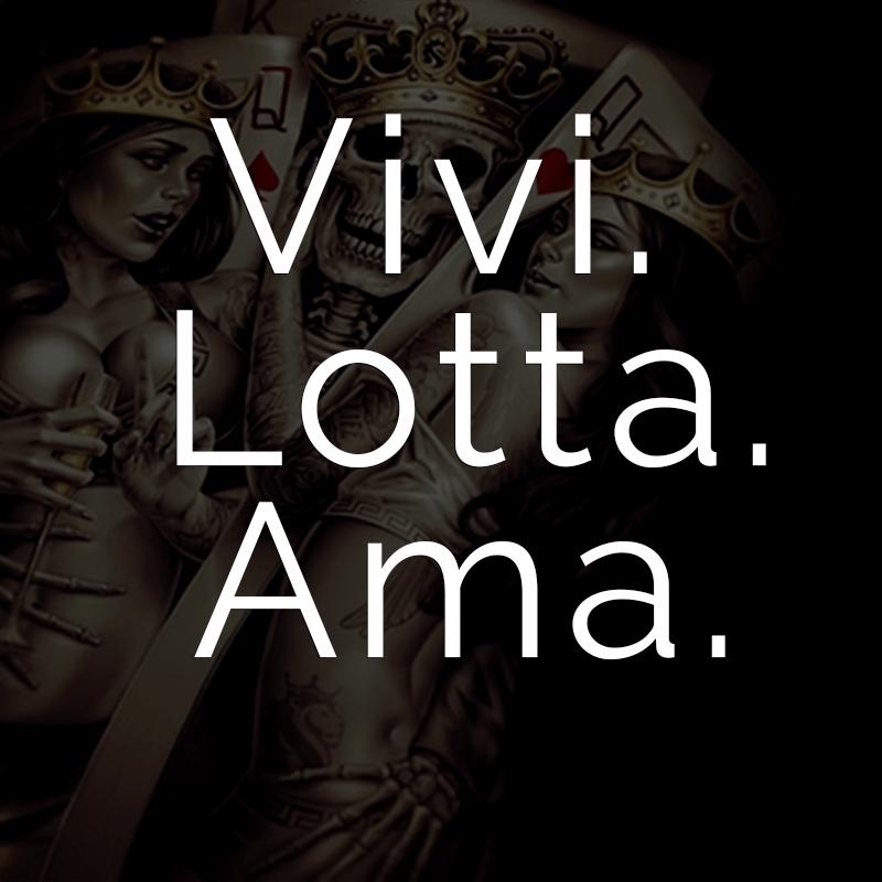 Vivi Lotta Ama Italienisch Für Lebe Kämpfe Liebe