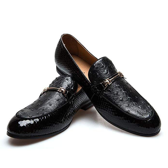 efb7104c677 JITAI Men s Lindford Moc Toe Bit Slip-On Penny Loafer Party Shoes … (9 D  Us