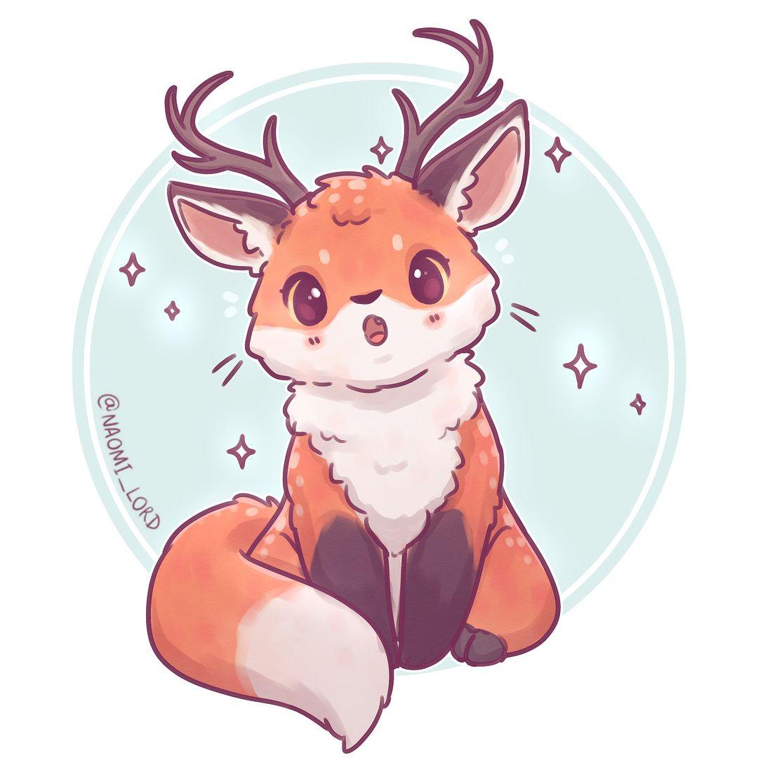 Polubienia 8 884 Komentarze 161 Naomi Lord Naomi Lord Na Instagramie Deer Fo Dibujos Kawaii De Animales Animales Kawaii Dibujos Bonitos De Animales