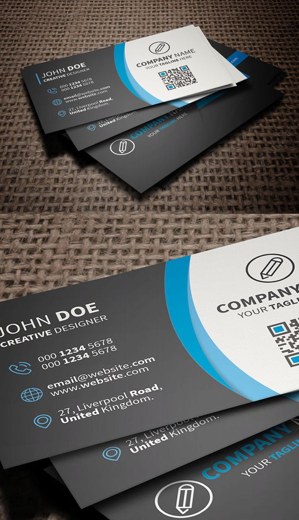 Free Corporate Business Card Template Freebies Photoshop