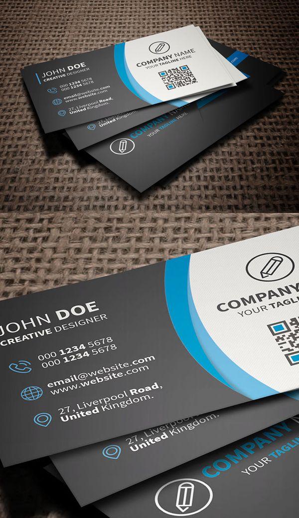 Free Corporate Business Card Template freebies photoshop