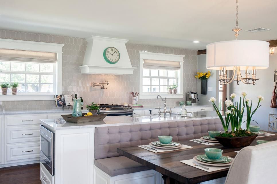 Banquet Behind Island Kitchen Island With Bench Seating Fixer