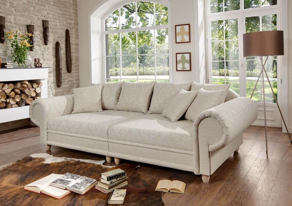 big sofa julia kolonialstil xxl mega kolonialsofa federkern shabby chic house decor. Black Bedroom Furniture Sets. Home Design Ideas
