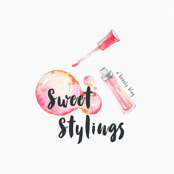 Premade Logo Design Pink Lip Gloss Logo Makeup Artist Beauty