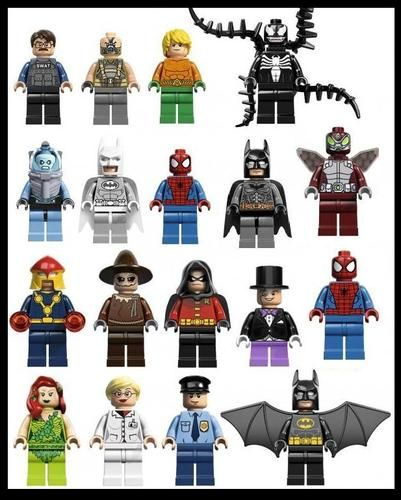 Lego superheros stickarounds wall bedroom stickers vinyl 22 designs in 2 sizes
