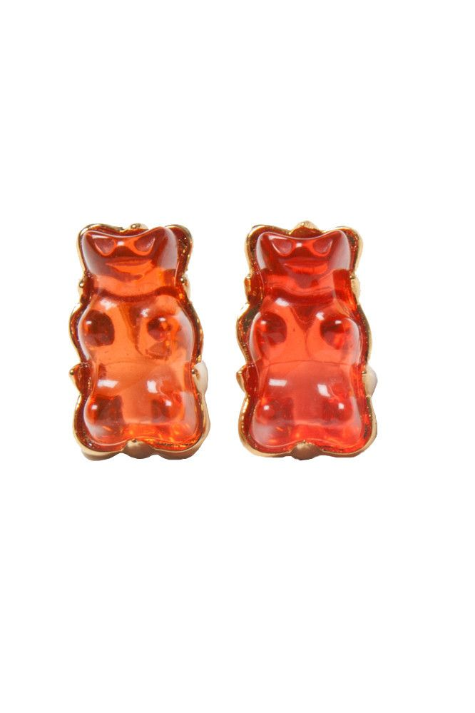 Red Gummy Bear Studs Earrings http://shop.nylon.com/collections/whats-new/products/red-gummy-bear-studs-earrings #NYLONshop