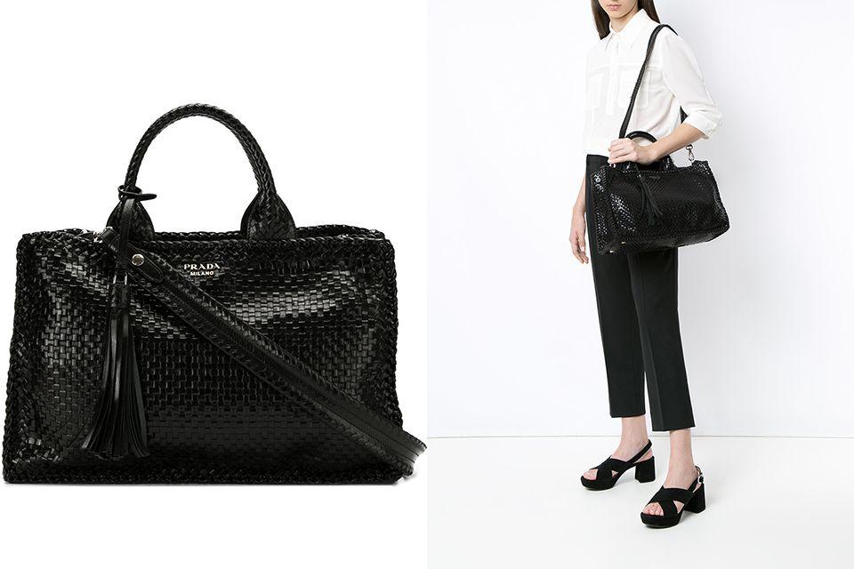 a6812d07a67bc6 Prada Woven Tote | Imaginary Wardrobe | Prada bag, Prada, Bags