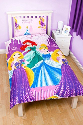 Kids' Duvet Covers - Disney Princess Reversible Duvet and Pillow Cover Set Single *** Check out this great product.