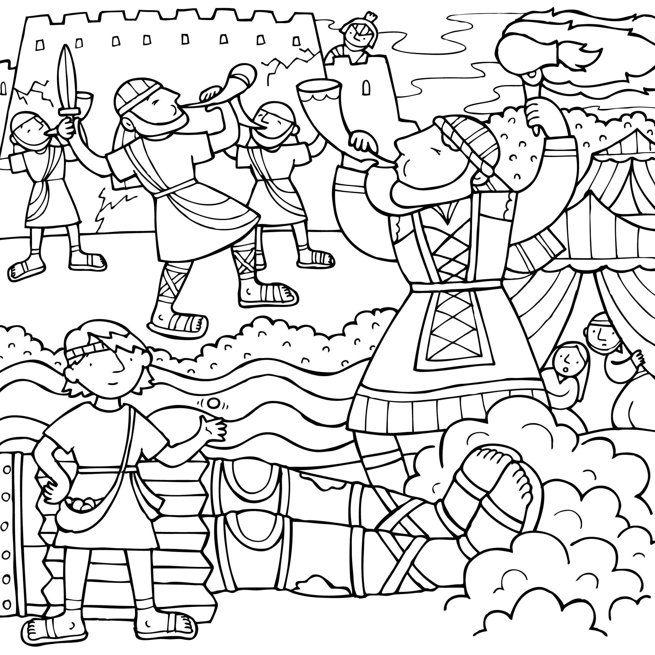 Old Testament Heroes Coloring Pages