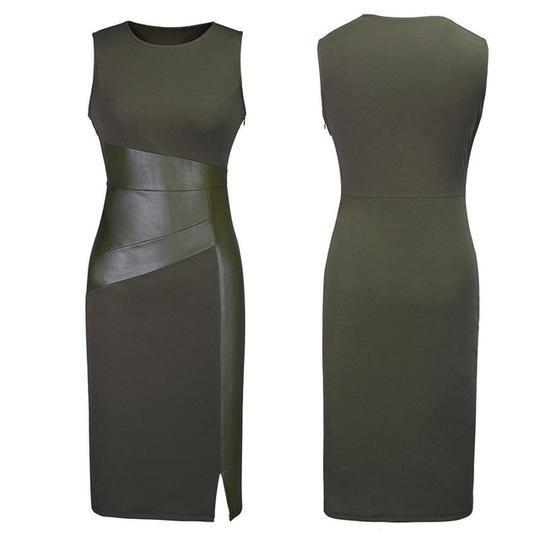 Photo of Sleeveless Leather Dress – ChicksAndSalsaStore #affordablefa…