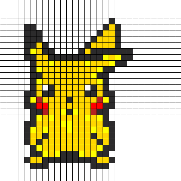 Pikachu Perler Bead Pattern   Bead Sprites   Characters Fuse
