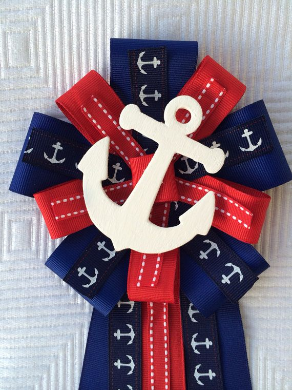Baby Shower Corsage Nautical Sailing Anchor On Etsy 14 50 This