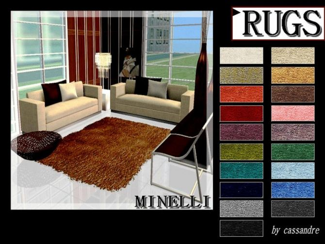 CASSANDRE MINELLI RUGS at Leo Sims via Sims 4 Updates