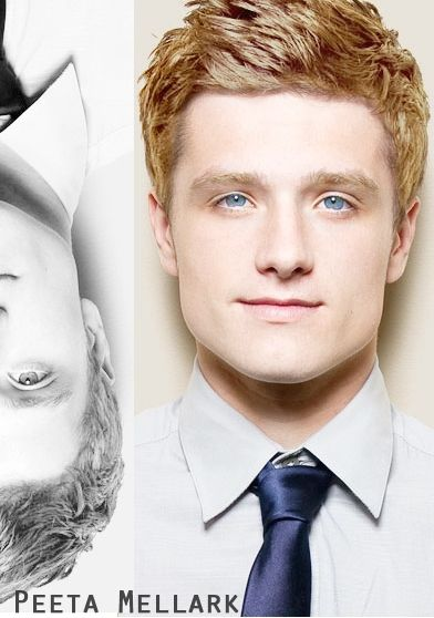 Josh Hutcherson As Peeta With Blonde Hair And Blue Eyes Josh