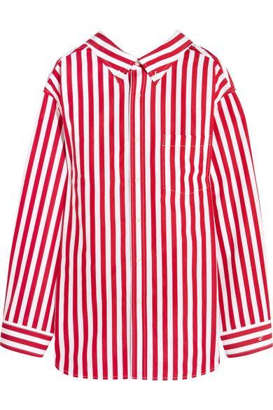 0d6c297a37ae82 BALENCIAGA Oversized striped cotton shirt. #balenciaga #cloth #tops ...