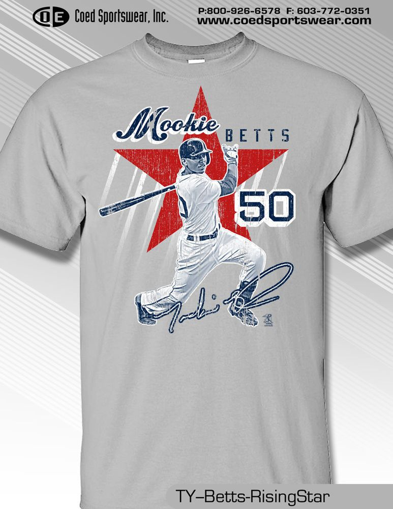 huge discount 56334 736f7 MOOKIE BETTS, BOSTON RED SOX RISING STAR SHIRT  MLBPA  BostonRedSox