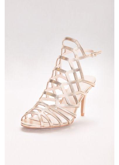 b91c17f59 David s Bridal Yellow (Metallic Caged Heels)