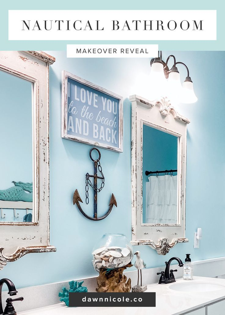 Photo of Nautical Bathroom Makeover Reveal