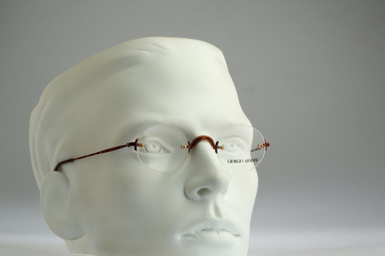 70e70683f8b Giorgio Armani Mod 191 832   Vintage eyeglasses and sunglasses   NOS   90s  unique and rare rimless design by CarettaVintage on Etsy