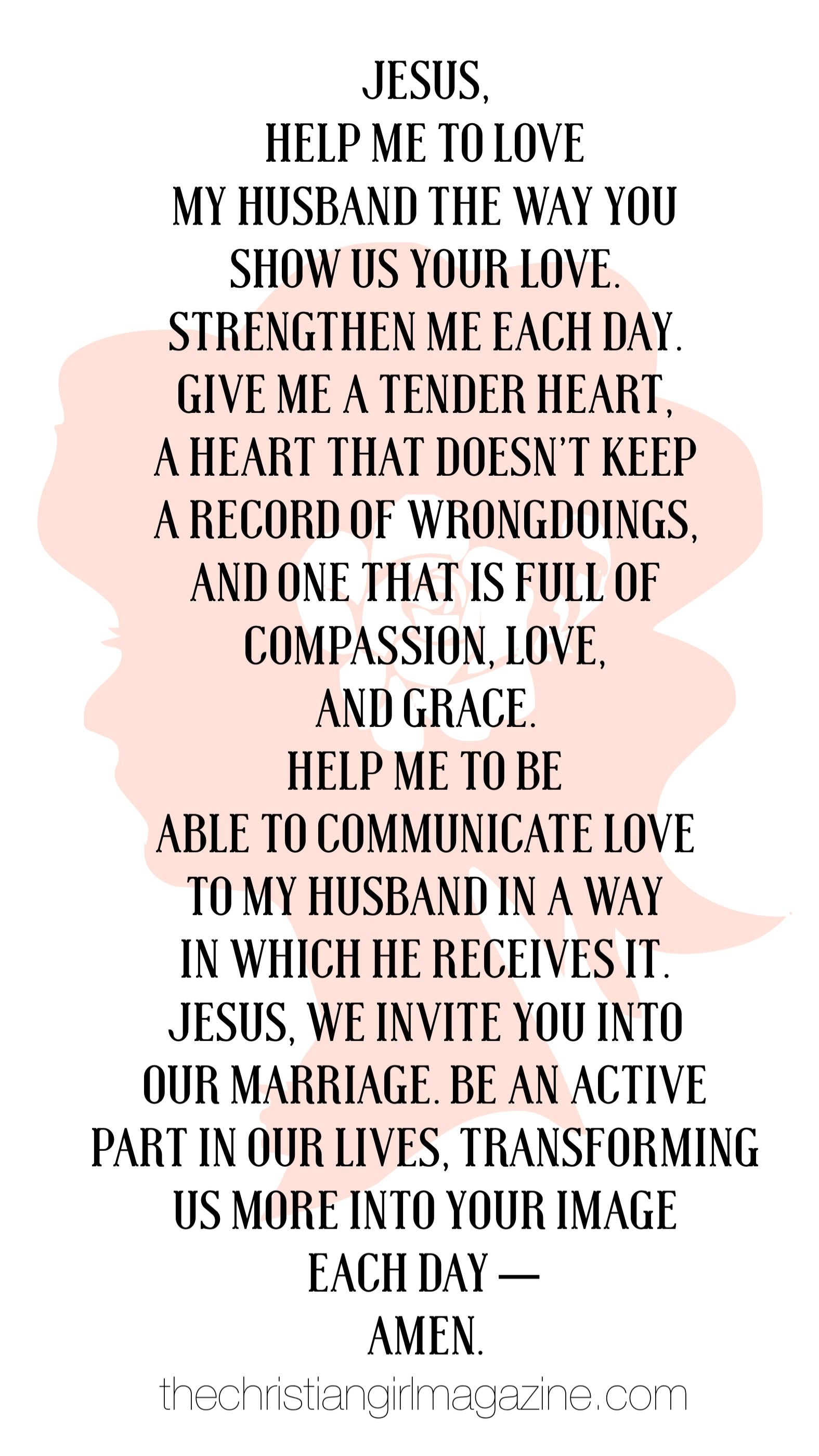 The saving power of prayer for a husband