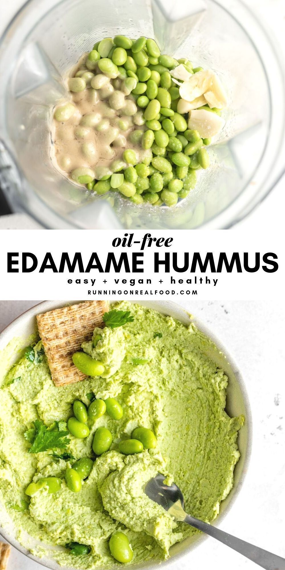 #edamame #hummus Edamame Hummus        An easy, vegan, oil-free edamame hummus recipe that's high in protein, low in fat and perfect as a healthy dip or spread. #christmasicingrecipe