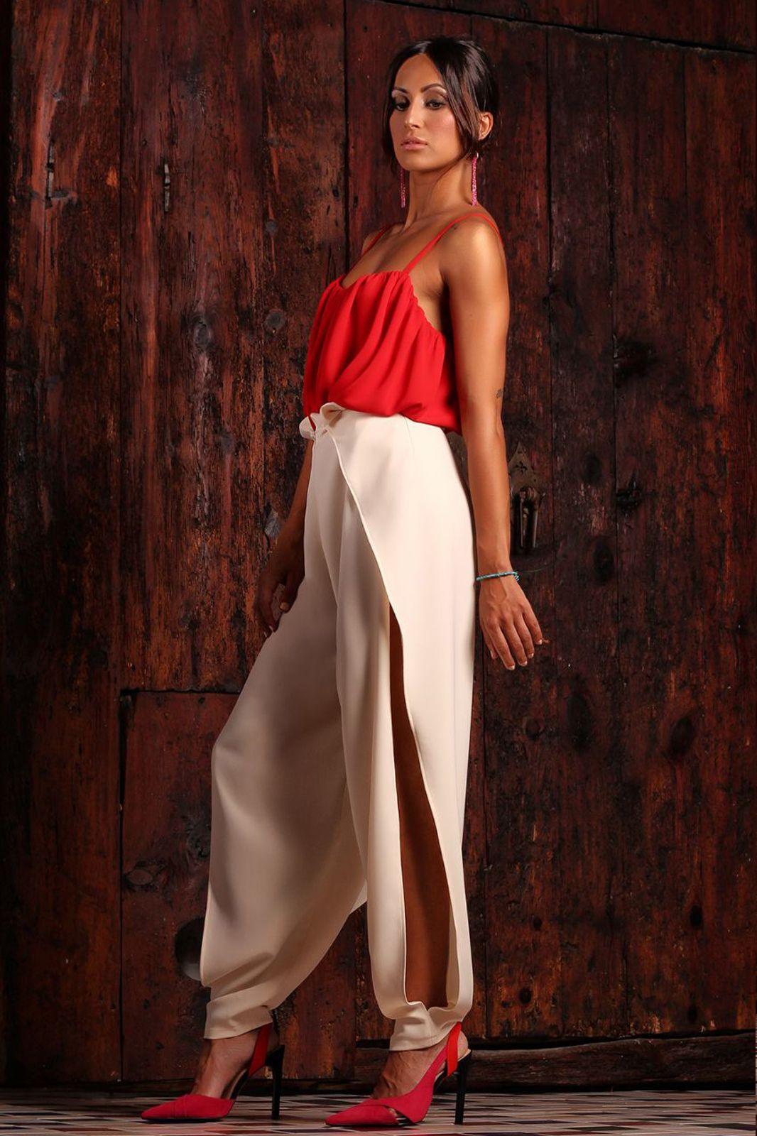 Pantalon Largo Abierto Para Chica Pantalon Fiesta Diseno Moda Mujer Pantalones De Fiesta Moda Para Mujer Moda