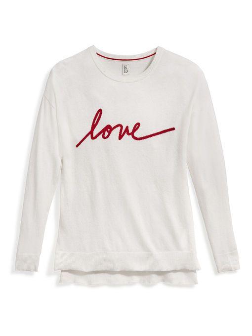 ED Love Intarsia Tunic Sweater