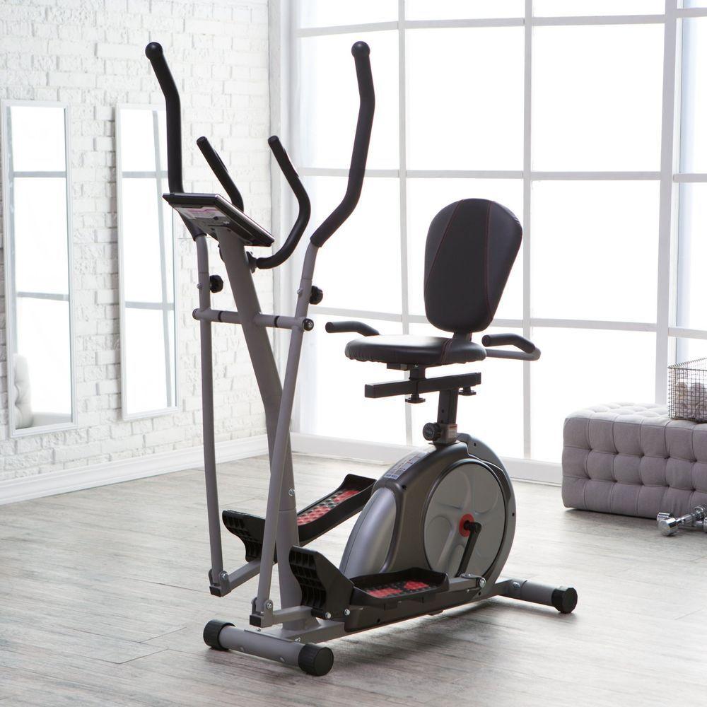 Elliptical Machine Exercise Recumbent Bike 3 In 1 Trainer Home Fitness Equipment Upright Bike No Equipment Workout Workout Machines