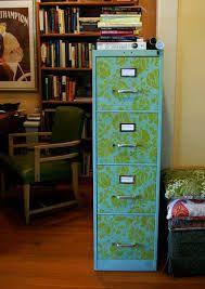 Image result for stenciled filing cabinet