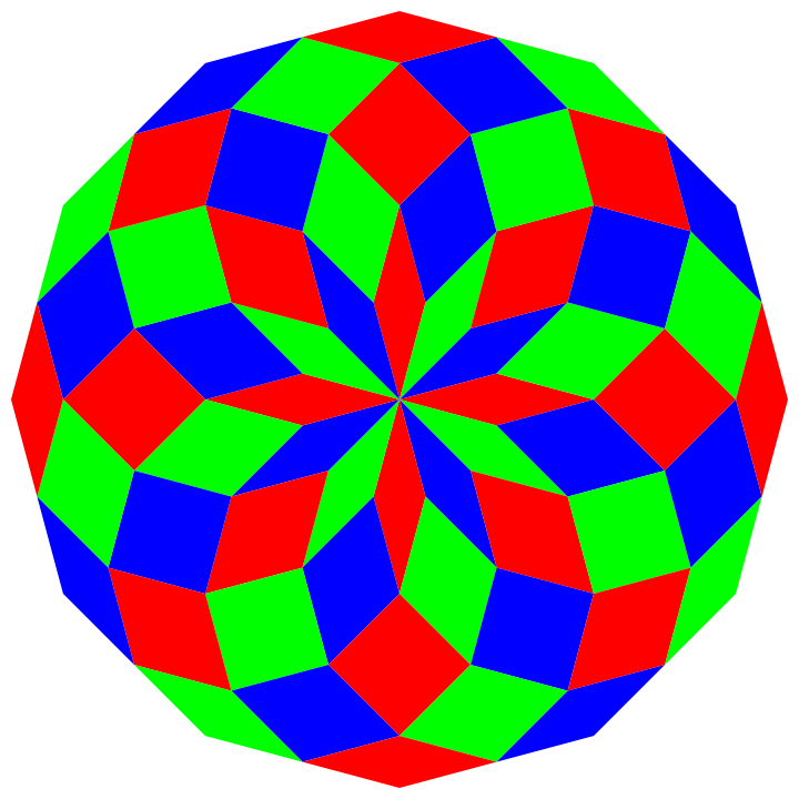 60 piece dodecagon by 10binary on deviantART