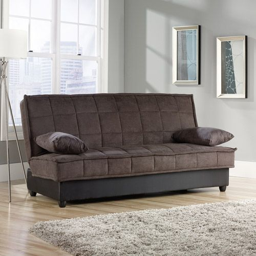 Magnificent Sauder Bayshore Futon Convertible Sofa Chocolate Furniture Caraccident5 Cool Chair Designs And Ideas Caraccident5Info