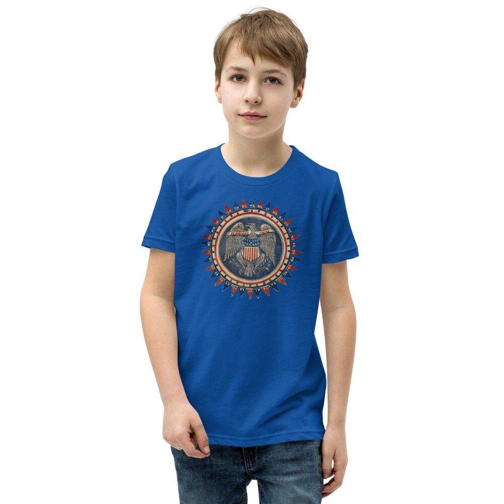 E Pluribus Unum United States Bald Eagle Patriotic Symbol Youth Short Sleeve T-Shirt