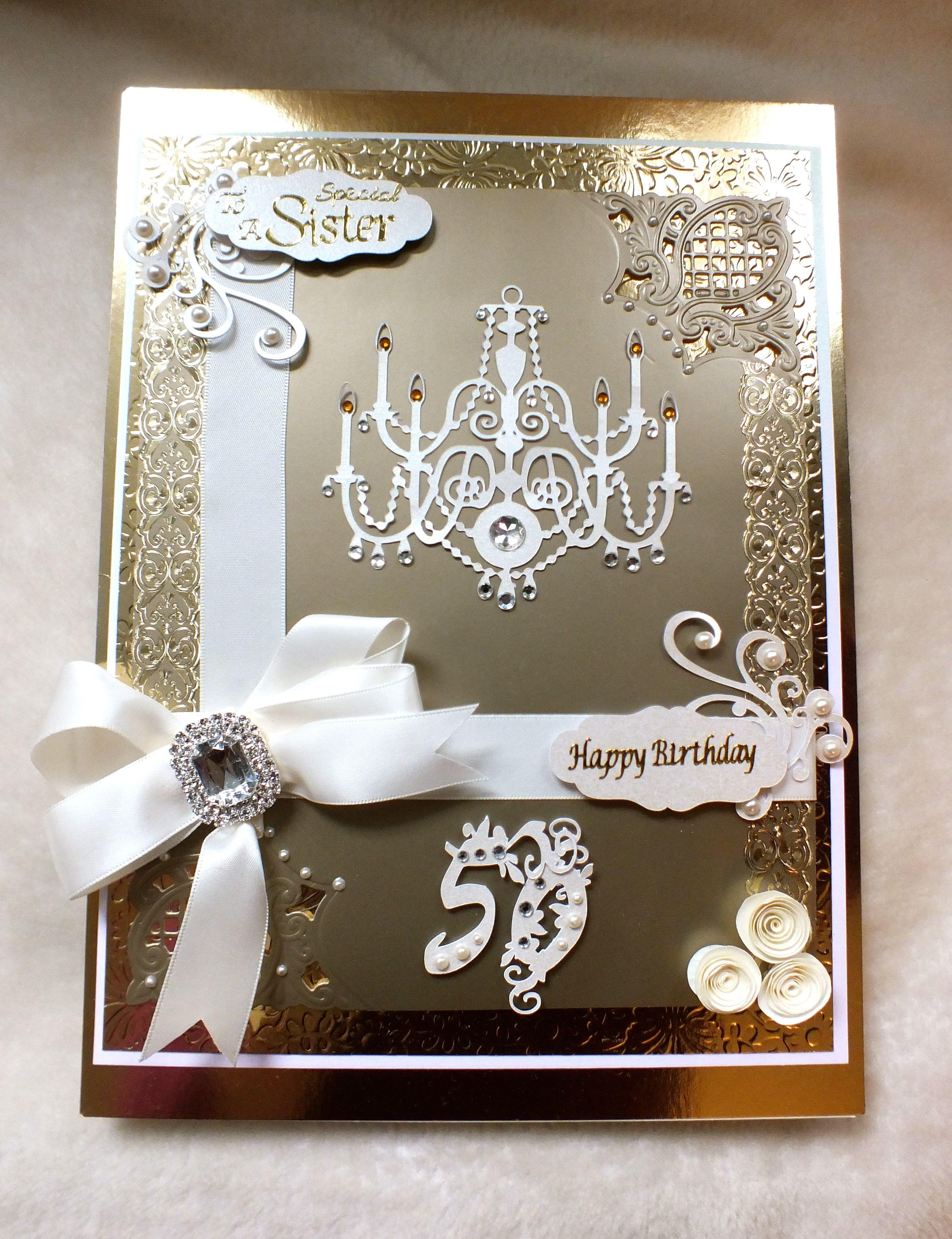 Bespoke luxury handmade 50th birthday card handmade cards bespoke luxury handmade 50th birthday card kristyandbryce Images