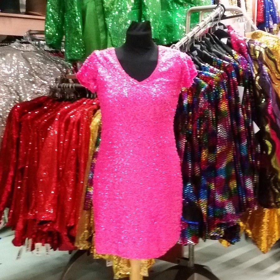 07d4de5523f57d Pailletten jurk luxe pink - feestwinkel Hoofs