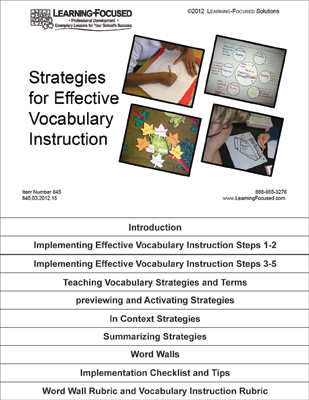 Learning Focused Strategies For Effective Vocabulary Instruction