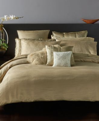48859bada3c67 Finish your modern bedroom decor with the shimmering style and superior  comfort of this Donna Karan Home Reflection full queen duvet cover