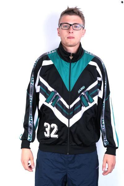 5df34b00e725 Jako Mens L Vintage Sweatshirt Jacket Tracksuit Top Vintage -  RetrospectClothes