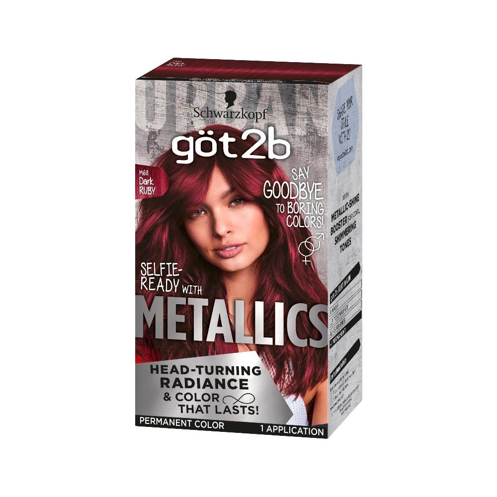 Got2b Color Metallic Dark Ruby 1 Kit In 2020 Dark Red Hair Dye