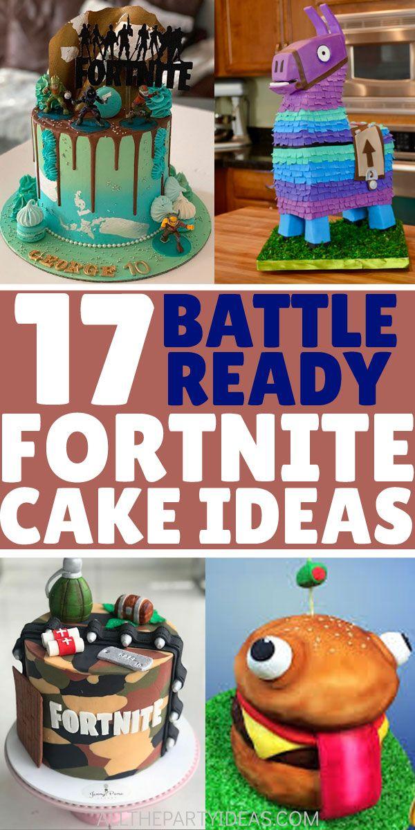 How to make DIY FORTNITE birthday CAKES for kids, teens
