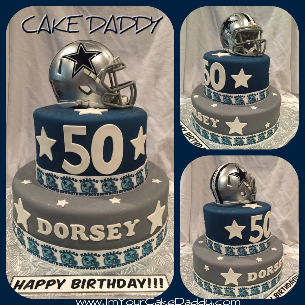 Dallas Cowboys themed birthday cake Custom Cakes by Cake Daddy