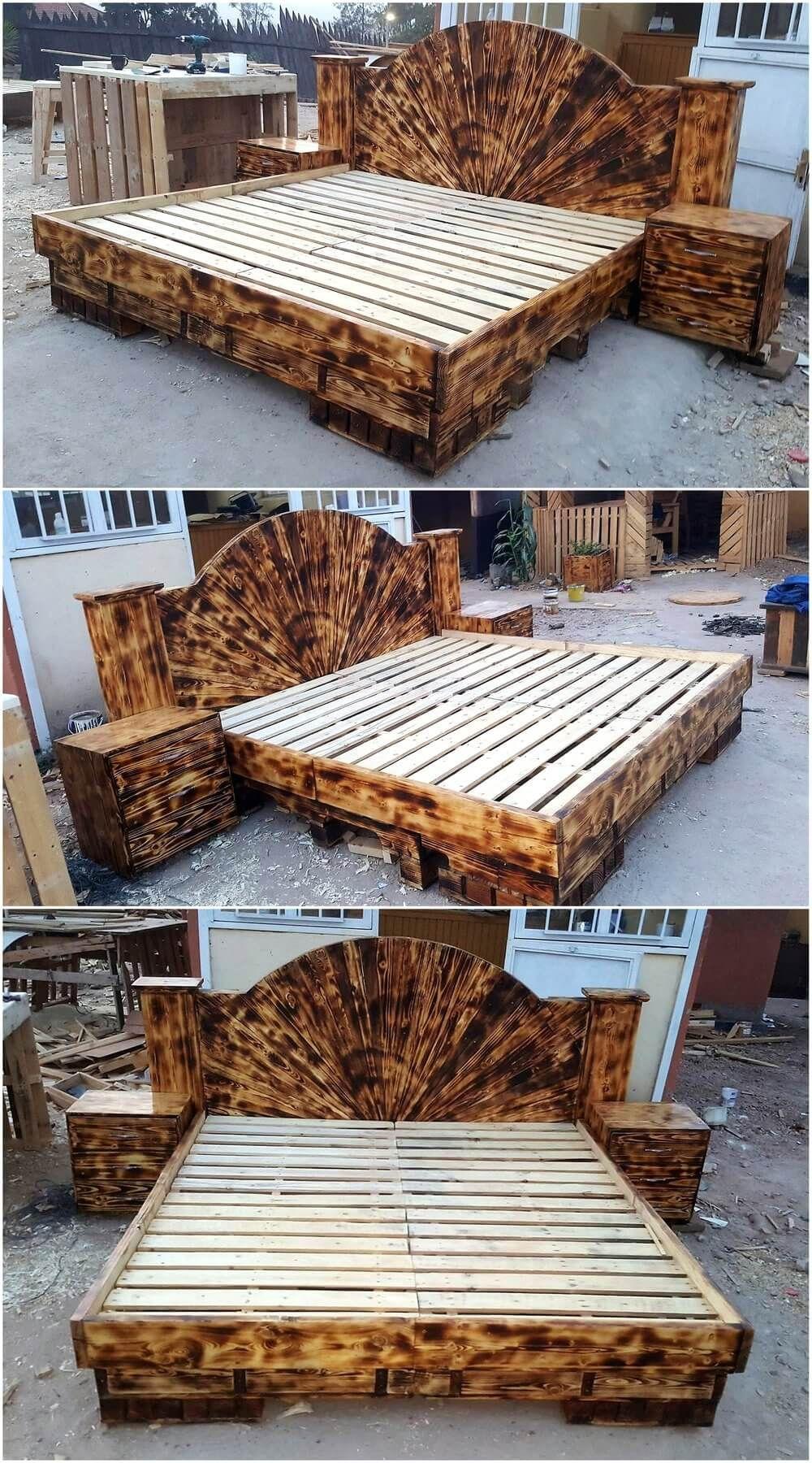 Tienerkamer Basic Wood.Repurposed Wooden Pallets Giant Beds Houtbewerke Pinterest